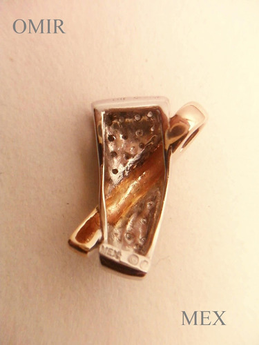 dije oro 14k brillantes diamantitos  moderno caucho