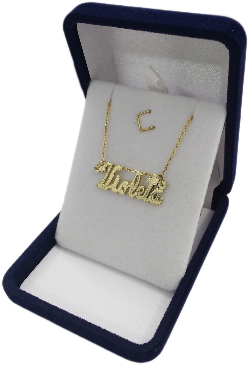 ad76e3a851 Dije Oro 18k Nombre Violeta Joyeria Esponda - $ 9.200,00 en Mercado ...