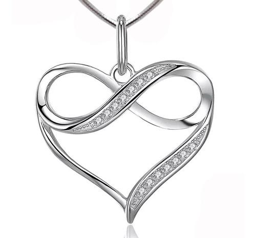 dije para mujer + cadena amor en plata 925 sellada
