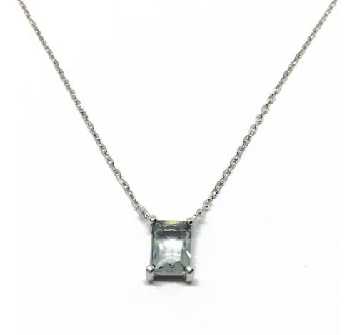 dije piedra cubic con cadena de plata 925 (n505027)