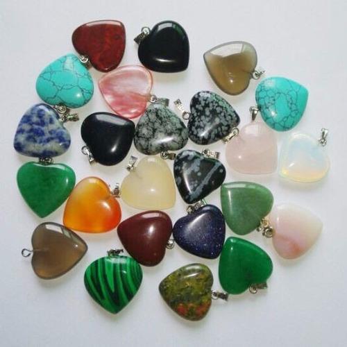dije piedras natural cadena gratis!