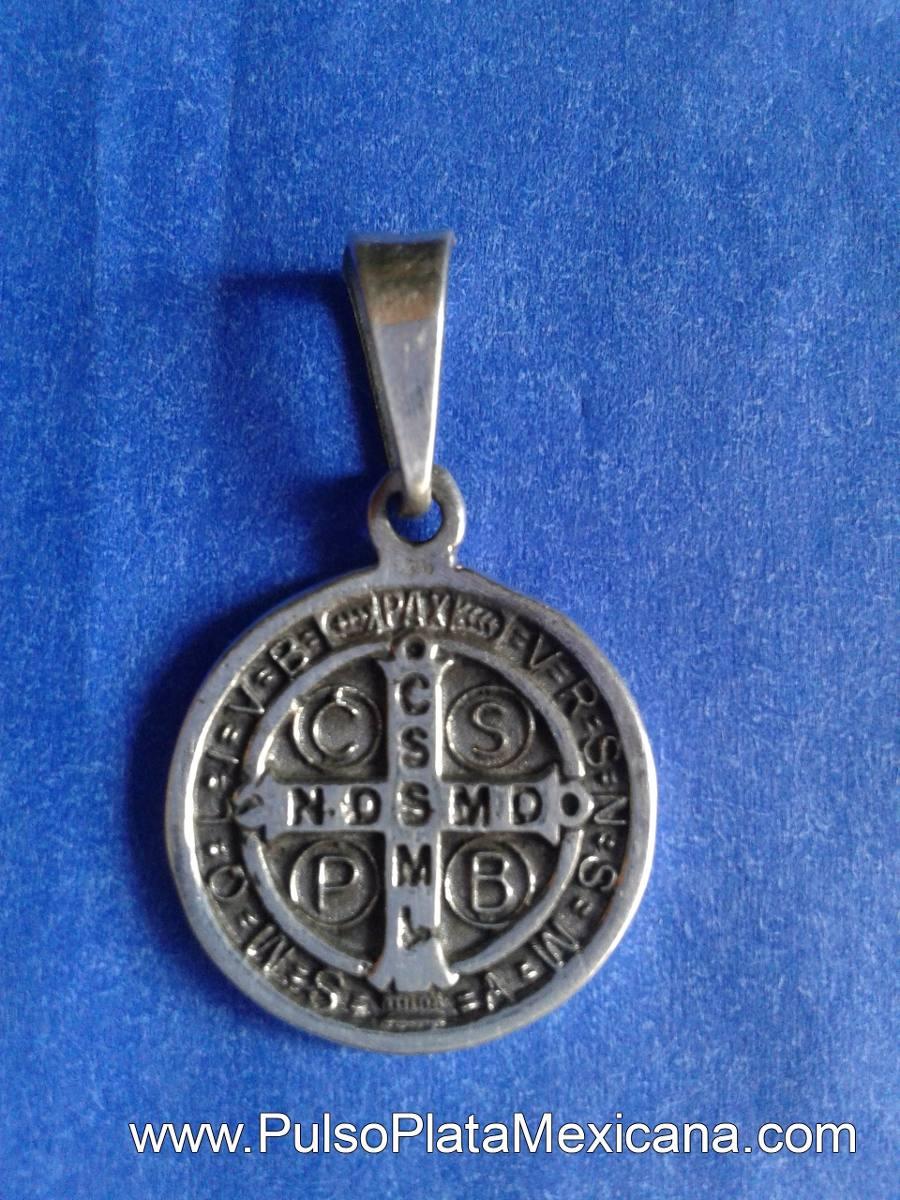 af3c61f6d0c0 Dije Plata Ley925 Medalla San Benito, Taxco Regalo, Dama/cab