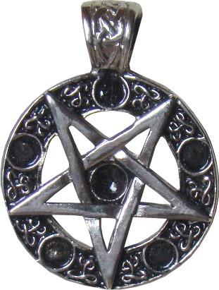 dije satánico estrella invertida en 7 metales