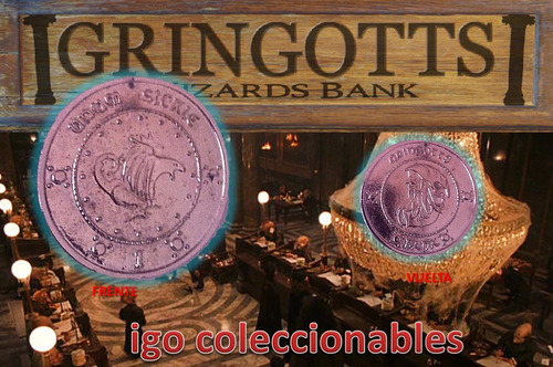 dije silver sickle gringotts bank harry potter igo mercenvio