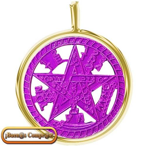 dije tetagramatón ionizado, pentagrama esotérico.