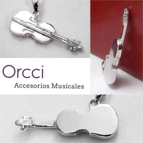 dije violín/viola plata .950 joyería regalos musicales