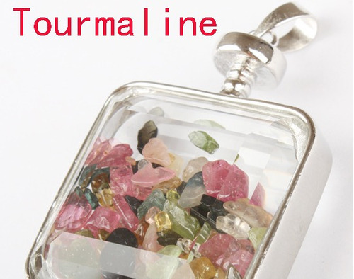 dije x2 cajita de cristal con piedras naturales! unicos!