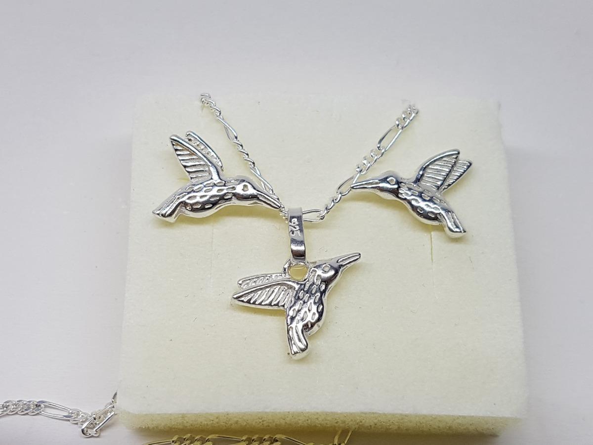 728069b95c6a dije y aretes de colibri plata ley .925 no incluye cadena. Cargando zoom.