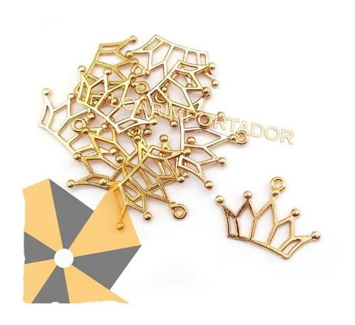 dijes coronas doradas principe dorado x15