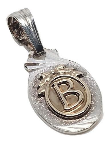 dijes letras inicial b ( plata 925 y oro) joya lindo 00094