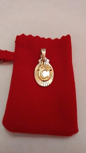 dijes letras inicial c ( plata 925 y oro)/joya lindo regalo