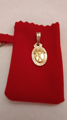 dijes letras inicial k ( plata 925 y oro)/joya lindo regalo