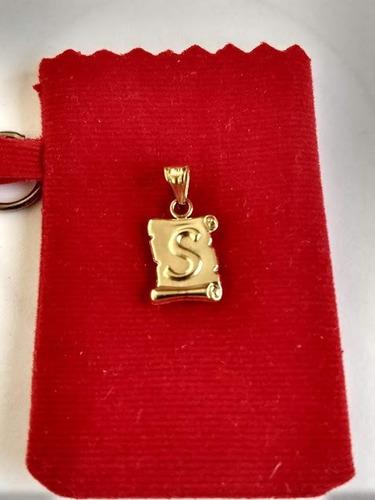 dijes letras inicial s oro/joya lindo regalo , calidad