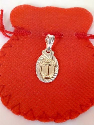 dijes letras inicial t ( plata 925 y oro)/joya lindo regalo