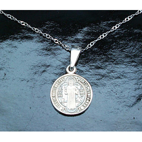 abdb0e3714b Medalla De San Benito En Plata Ley en Mercado Libre México