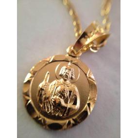 8a2ad7dc747 Cadena De Oro De San Judas Tadeo Dijes Medallas Sin Piedras ...