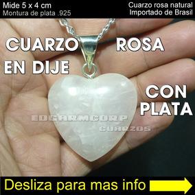 710c68d327d1 Joyeria Trc25 Dije Corazon De Cuarzo Rosa Natural Pza 167