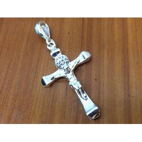f4ff6e294fdf Dije Plata Ley 925 Cruz Y Cristo Con Piedra De Zirconia D12