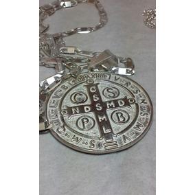 ac6cc2cdf09 Medalla De San Benito En Plata Pura - Dijes y Medallas Plata Sin ...