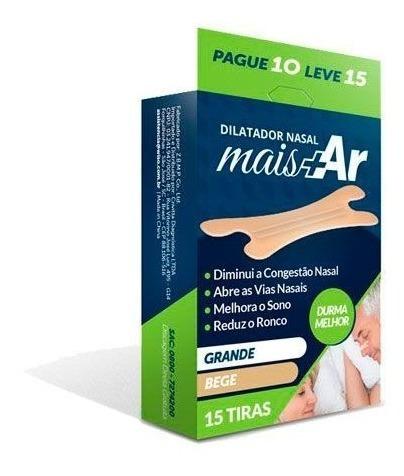 dilatador nasal mais ar reduz ronco respiração c/15 bege