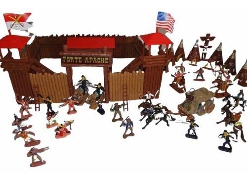 diligencia + forte apache gulliver soldados indios cowboys