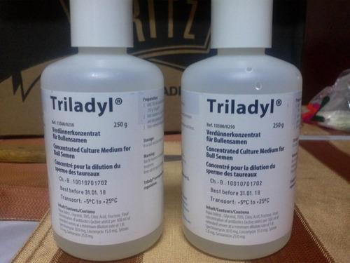 diluyente triladyl inseminacion bovinos, minitub
