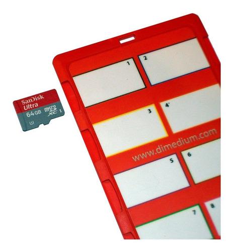 dimecard micro8microsd memory card holder light ciclo ed
