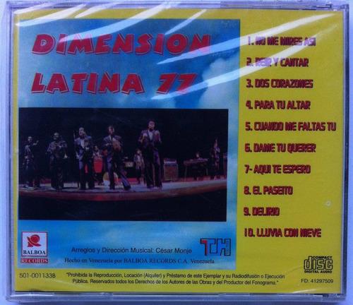 dimensión latina 77. internacional. cd original, nuevo