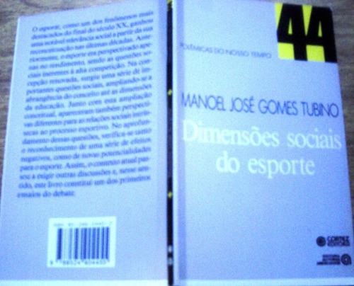 dimensões sociais do esporte, de manoel josé gomes tubino