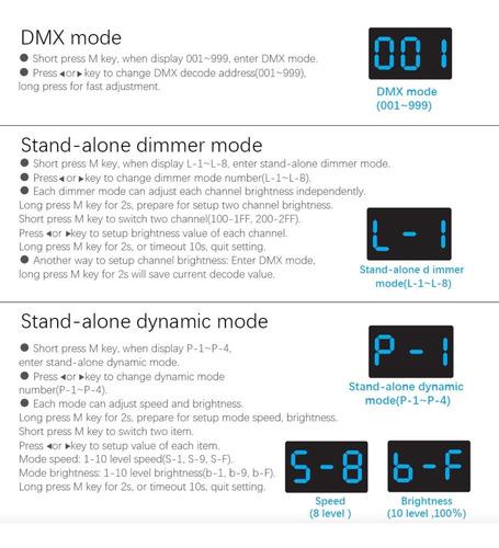 dimmer dmx 110v para riel din 2 salidas @tl