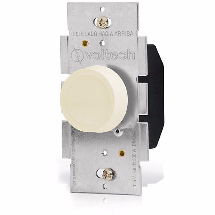 Dimmer giratorio regulador intensidad de luz voltech 46302 - Regulador de intensidad de luz ...