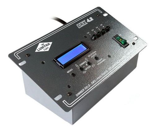 dimmer relê sequencial lumyna light dmx 512 4 saídas drx 4.2