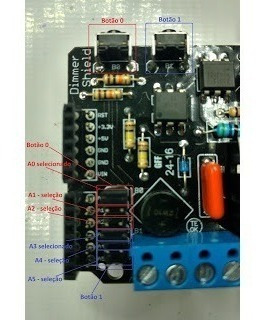 dimmer shield arduino - 110 vac e 220 vac - 1 canal
