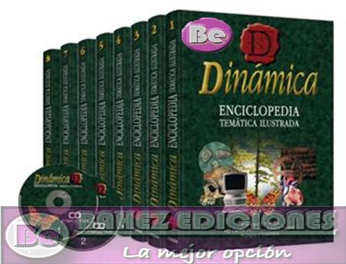 dinamica enciclopedia tematica ilustrada 8 vol + 2 cd clasa