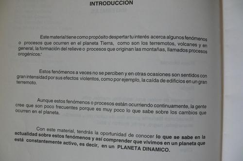 dinamismo de la litosfera.  manual del alumno