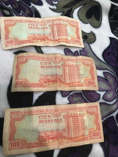 dinero antiguo de 1000,500 y 3 de 100