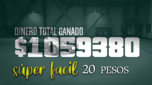 dinero en gta v online xbox one 1 millon a  20.00 pesos