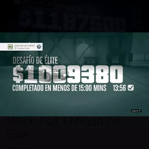 dinero gta 5 online ps4 un millon+ mision de elite