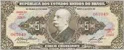 dinheiro antigo 5 cruzeiros