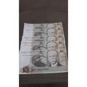 Dinheiro Antigo Notas De Dez Cruzados Super Conservadas Vint