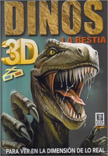 dinos  la  bestia  3d tapa dura libro infantil
