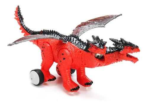 dinosaurio 42cm r/c control remoto de dos cabezas ref. 0858