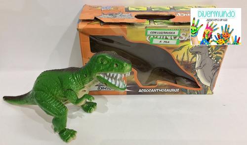 dinosaurio con música y luz-a pilas. solo envíos