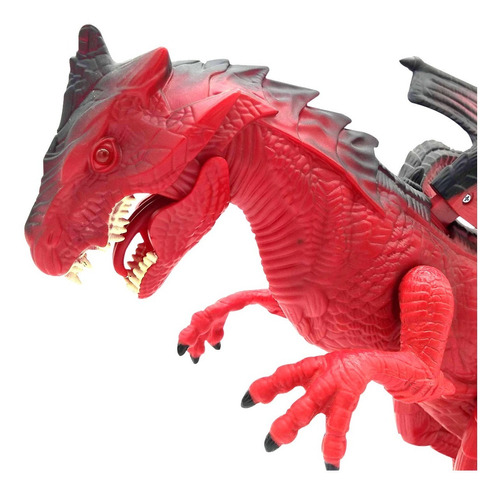 dinosaurio de juguete dragon luz sonido camina ruge grande