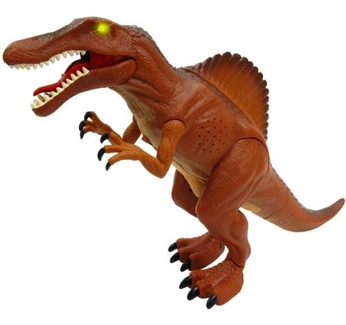 dinosaurio de juguete luz sonido y movimiento animatronico