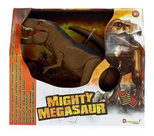 dinosaurio de juguete tiranosaurio con luz y sonido grande