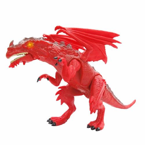 dinosaurio dragon mighty megasaur luz y sonido juguete real
