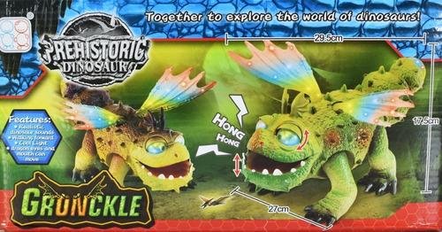 dinosaurio gronckle dragón con luz y sonido ref. 3317