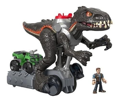 dinosaurio indorraptor motorizado jurassic world imaginext
