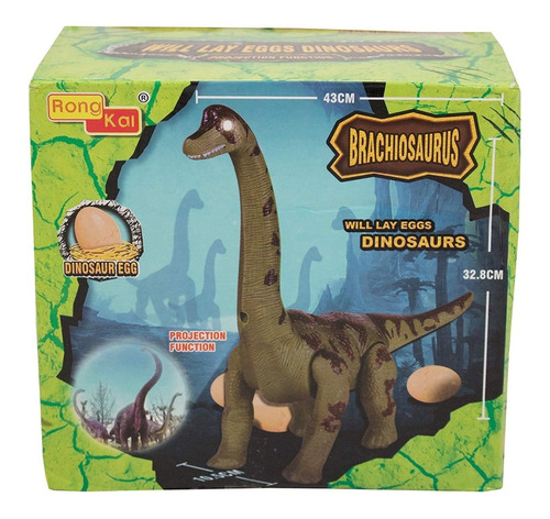 dinosaurio jurassic world brachiosaurus pone huevos juguete